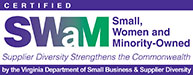 Small women and minority owned logo
